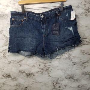 "Gap Womens Shorts 3"" Indigo Blue Mid Sz 33 New"